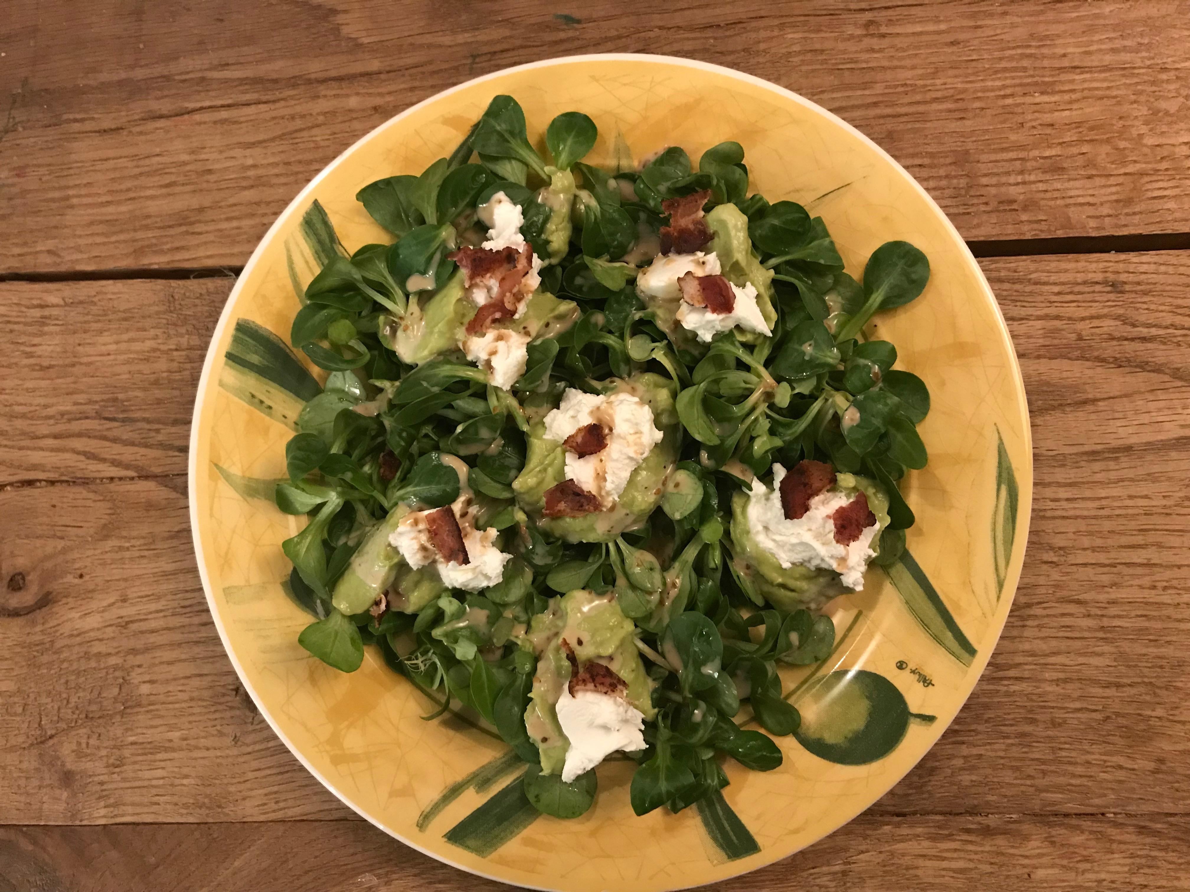 Simpele avocado salade