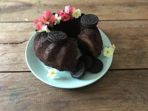 Chocolade tulband met oreo koekjes