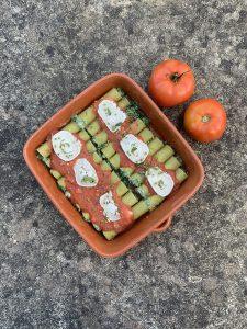 Vegetarische cannelloni met citroen ricotta en spinazie