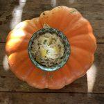 Heerlijke pompoenrisotto met paddenstoelen