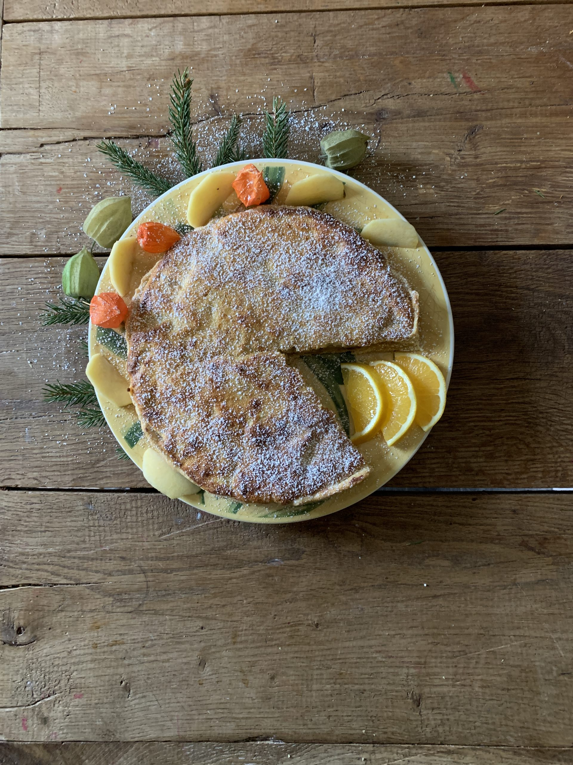 Appel ricotta taart met sinaasappel