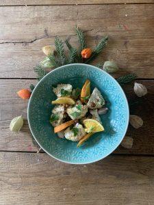 Geroosterde bloemkool met hazelnoot en knoflook