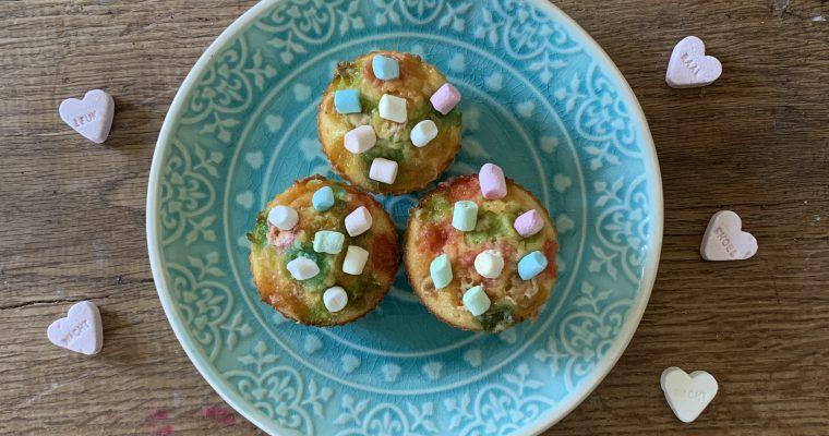 Valentijn cupcakes met marshmallows