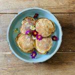 American pancakes met Griekse yoghurt