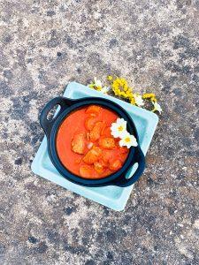 Frans stoofpotje rougail saucisse